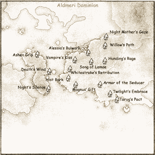 Aldmeri Dominion Crafting Set Locations