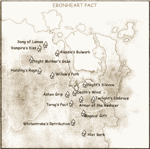 Ebonheart Pact Crafting Locations