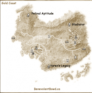 Gold Coast Crafting Set Locations