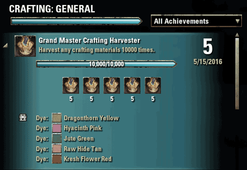 Master Crafting Harvester Achievement