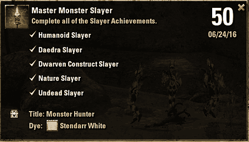 Achievement - Master Monster Slayer