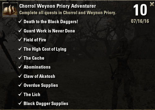 Chorrol Weynon Priory Adventurer