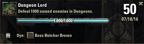 Dungeon Lord Achievement