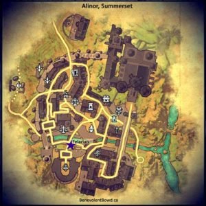 Map Alinor, Summerset