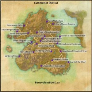ESO Summerset Relics Map
