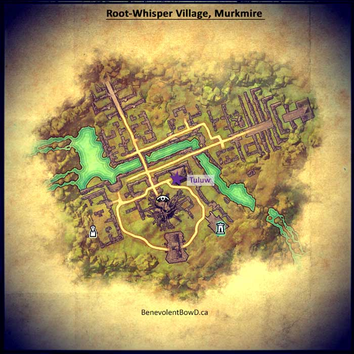 Map - Root-Whisper Village Murkmire, Elder Scrolls Online
