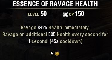 essence of ravage health tooltip