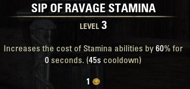 Sip of Ravage Stamina Tooltip